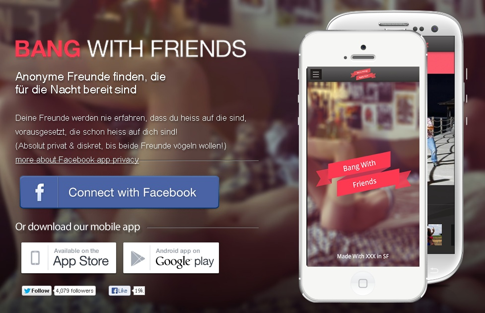 "Vé a tiro hecho con la app ""Bang With Friends"""